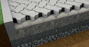 Guia de concreto para calçada