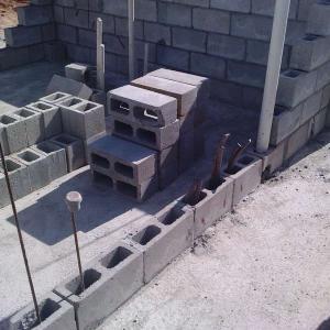 Bloco vedação e estrutural